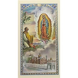 Words of Our Lady of Guadalupe - Prayer Card