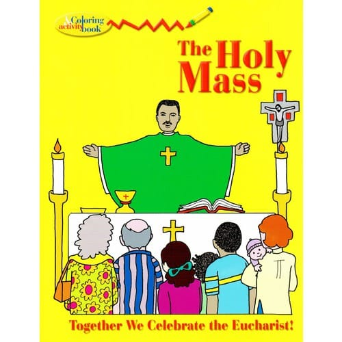 the holy mass coloring and activity book