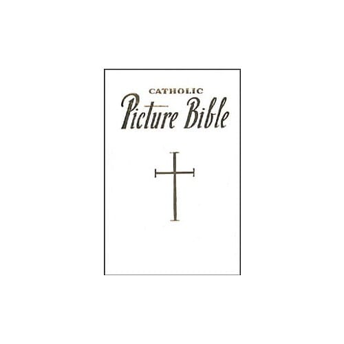 Catholic Picture Bible - White Bonded Leather