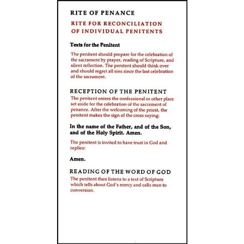 Rite of Penance Pamphlet