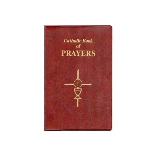 Catholic Book of Prayers-Burgundy Leather