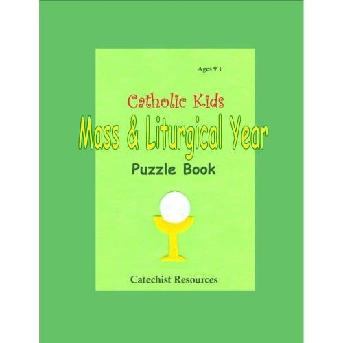 Catholic Kids Mass and Liturgical Puzzle Book