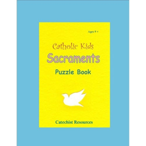 Catholic Kids Sacraments Puzzle Book