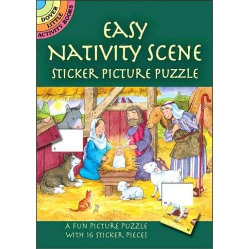 Easy Nativity Scene Sticker Picture Puzzle Book