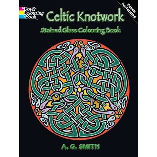 Celtic Knotwork Stained Glass Coloring Book