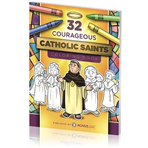 32 Courageous Catholic Saints Coloring Book