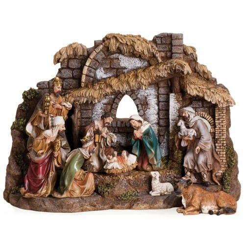 10pc nativity stable 6 figures 11 h stable resin 3001496 jpg