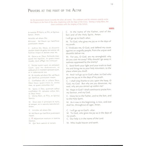 The Order of the Mass: The Missal of Pope St. John XXIII - Extraordinary Form of the Roman Rite