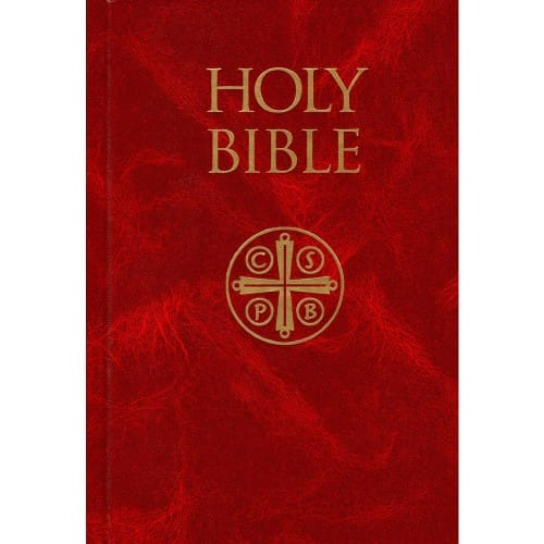 Hardcover Burgundy Bible- NABRE