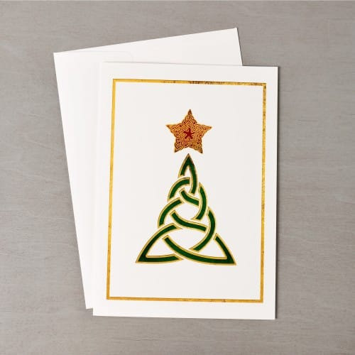 Celtic Christmas Tree Christmas Cards - Set of 20