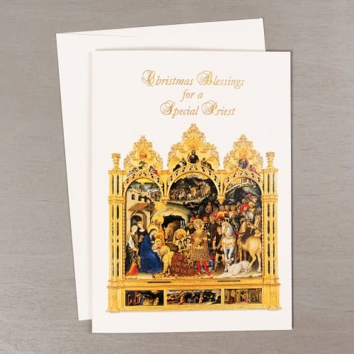 Nativity Blessings Christmas Card for Priests