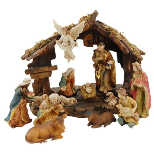 13 Piece Resin Nativity with 8 inch Creche