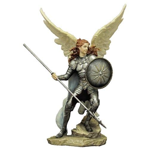 St Raphael Archangel Statue: Archangel Raphael Statue 13.5''