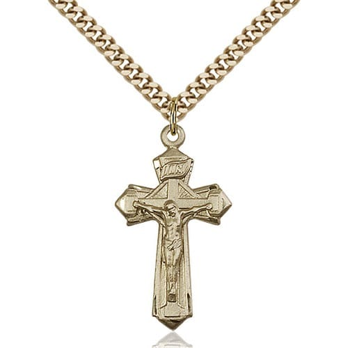 14kt Gold Filled Crucifix Pendant