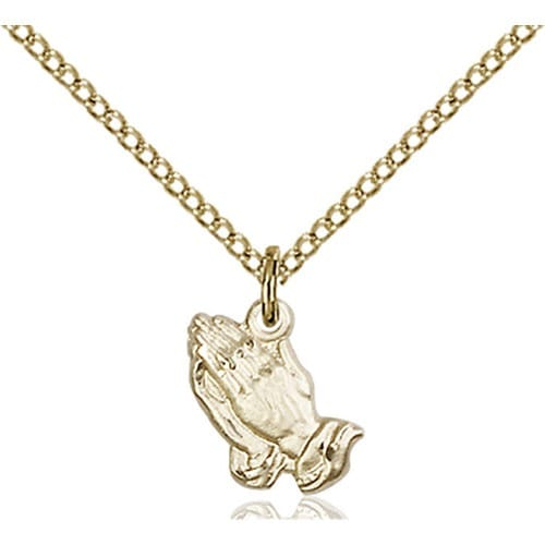 14kt gold filled praying hands pendant the catholic company 14kt gold filled praying hands pendant aloadofball Choice Image