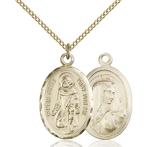 14kt gold filled st peregrine pendant the catholic company 14kt gold filled st peregrine pendant mozeypictures Image collections