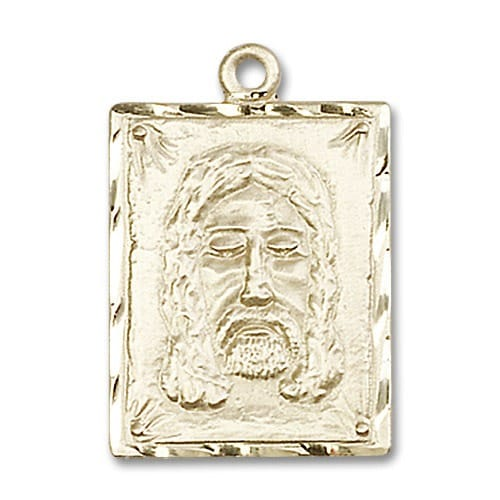 14kt Gold Holy Face Medal