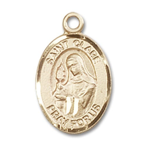 14kt Gold St. Clare of Assisi Medal
