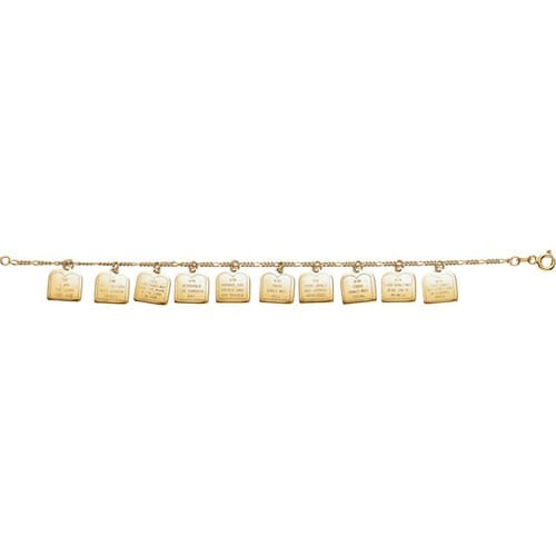 14kt Gold Ten Commandments Bracelet