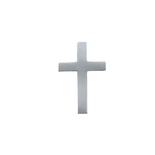 14Kt White Cross Lapel Pin 09X07