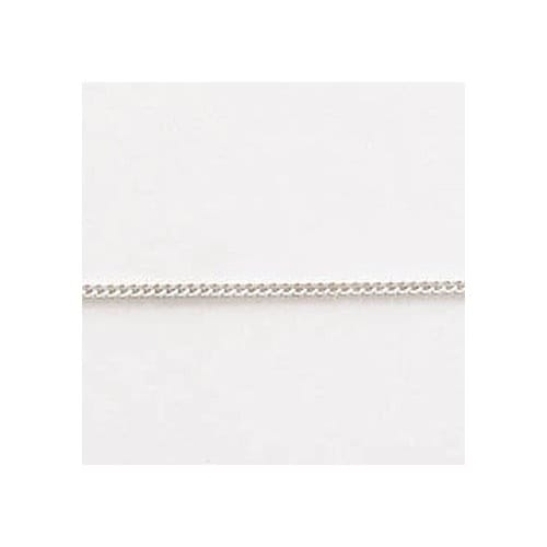 18 Inch Curb Sterling Silver Chain
