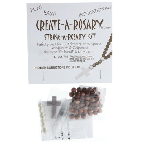 String-A-Rosary Making Kit, Wood