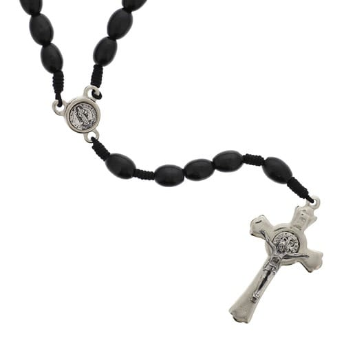 Black Corded St. Benedict Rosary