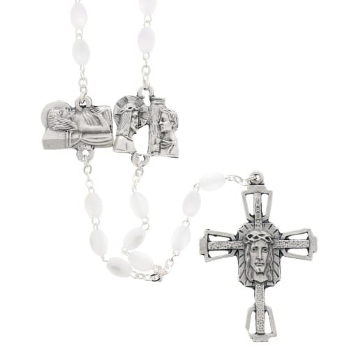 Mother of Pearl Way of the Cross Rosary