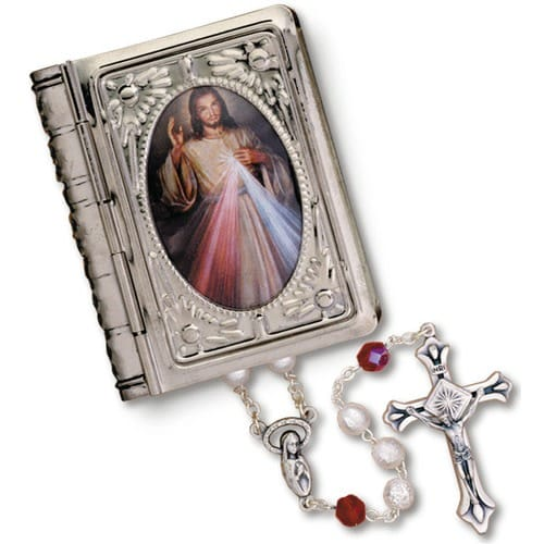 Rosary with Divine Mercy Picture Book Box