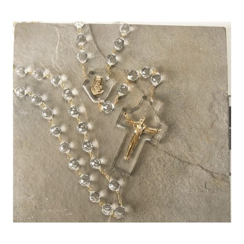 Risen Christ Crystal Wall Rosary