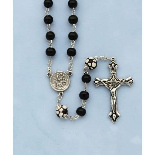 Black Soccer Rosary