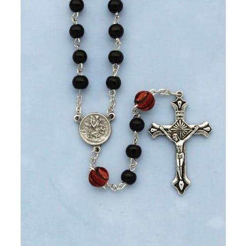 Black Basketball Rosary
