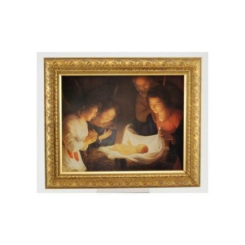 Nativity (Gherado delle notti) Solid Wood Gold Frame (8x10)
