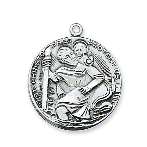 St christopher pewter medal the catholic company st christopher pewter medal aloadofball Choice Image