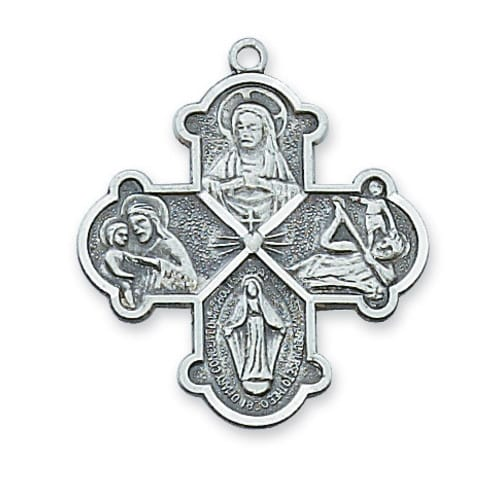 Sterling Silver Four-Way Medal on 20 inch chain