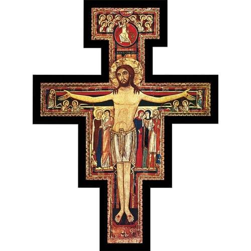 San Damiano Pedestal Cross - 6/ 10 / 15 inch