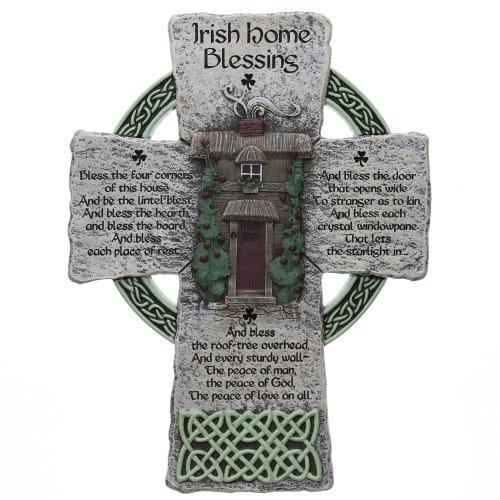 Irish Home Blessing Cross - 8 inches