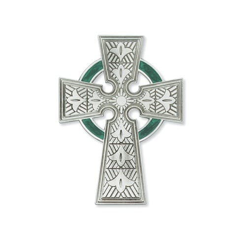 Celtic Cross with Green Epoxy 4""