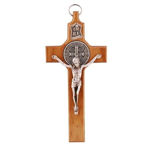 Walnut St. Benedict Crucifix - 6.5 inch