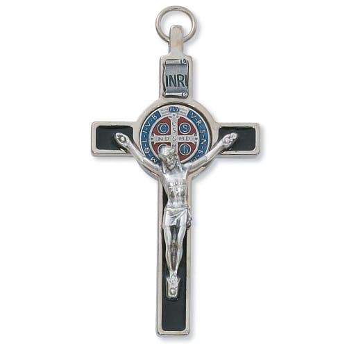 Silver St. Benedict Crucifix - 3 inch