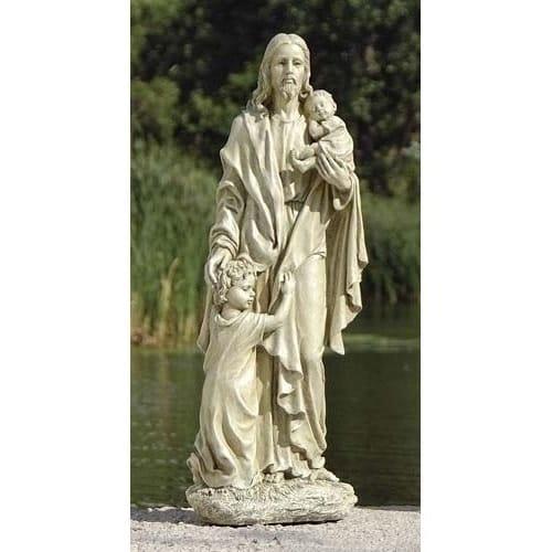 Jesus with Children Garden Figure - 24 inch