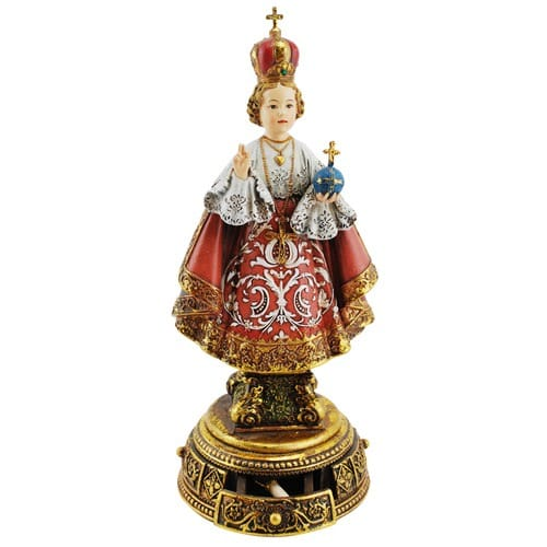 Infant of Prague Heavenly Protector Statue 9.5""