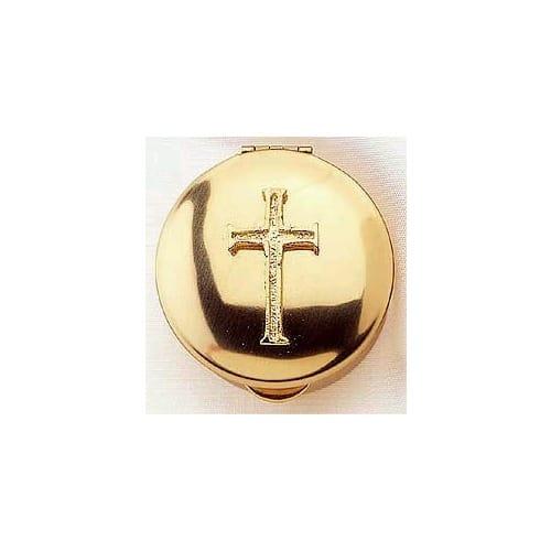Stamped Pyx w/ Latin Cross