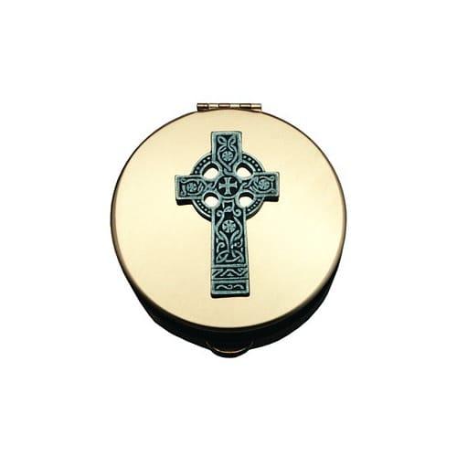 Stamped Pyx w/ Celtic Cross