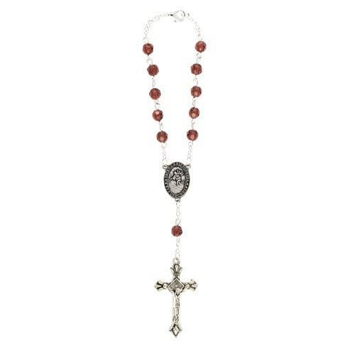 Dark Amethyst Auto Rosary