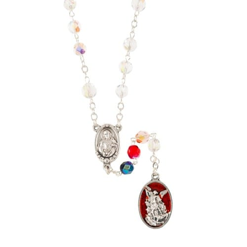 Red Crystal St. Michael Chaplet