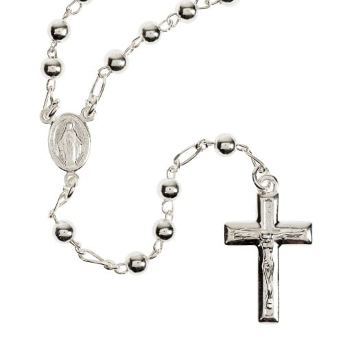 Petite Sterling Silver Italian Rosary