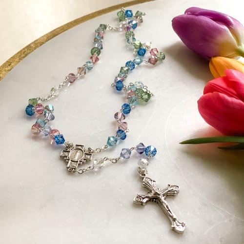 Multicolored Swarovski Crystal Rosary