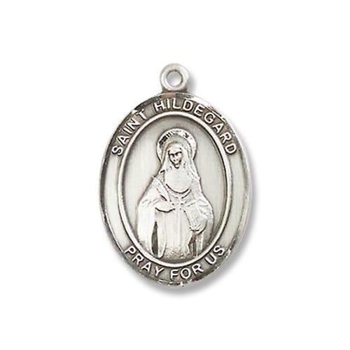 Sterling Silver St. Hildegard Von Bingen Pendant w/ Chain