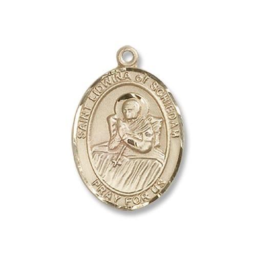 Gold St. Lidwina of Schiedam Medal - 14KT